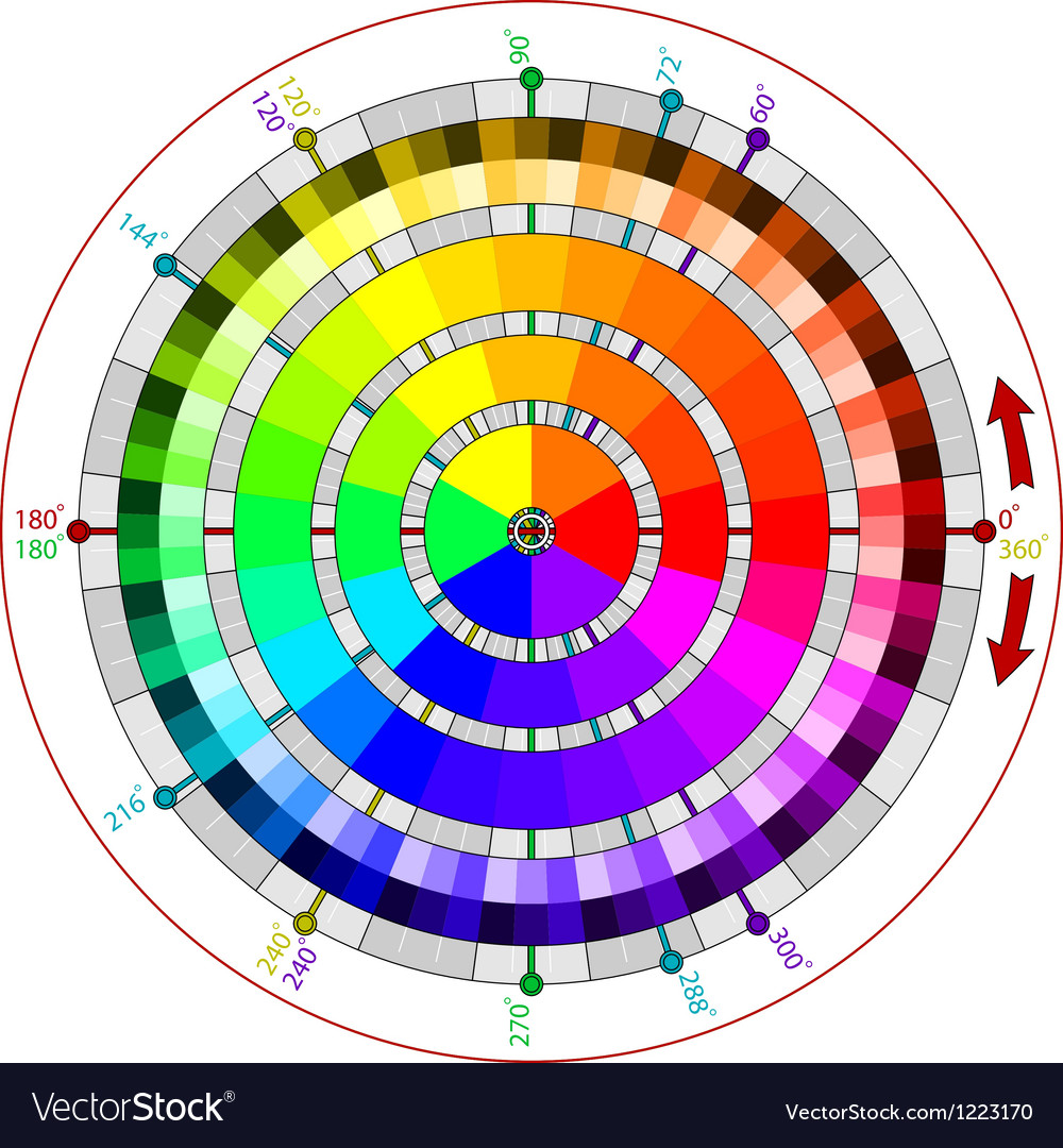 Complementary color wheel for artists vector | Price: 1 Credit (USD $1)