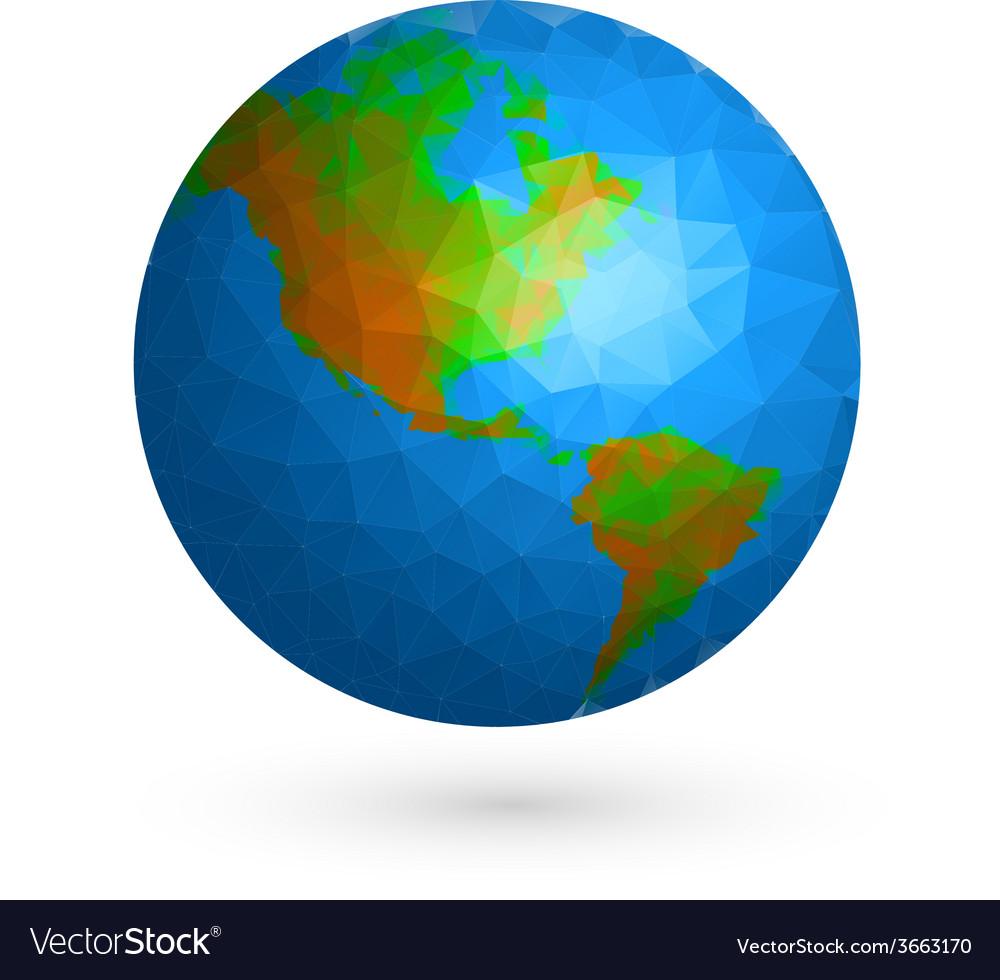 Earth globe vector   Price: 1 Credit (USD $1)