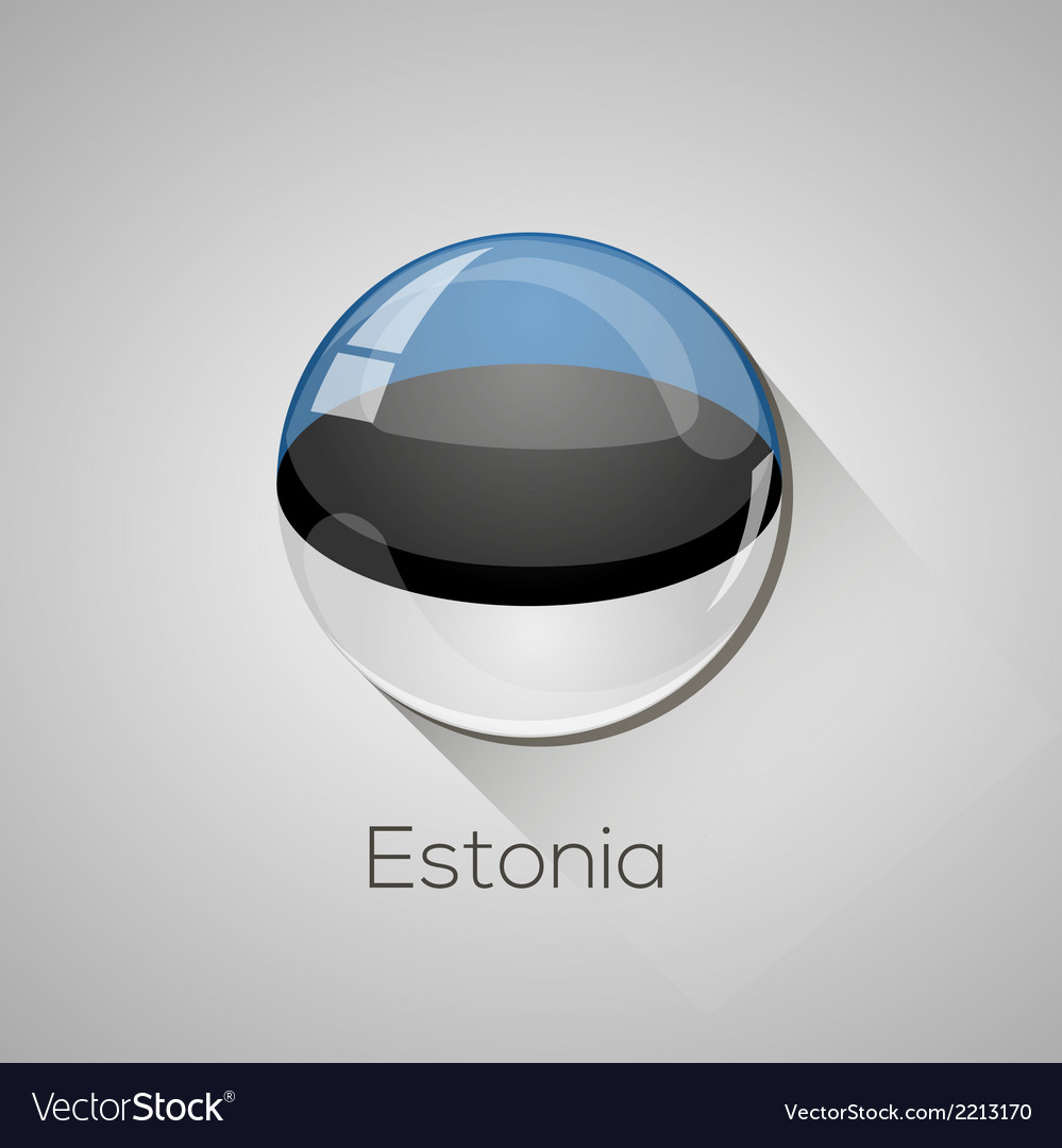 European flags set - estonia vector | Price: 1 Credit (USD $1)