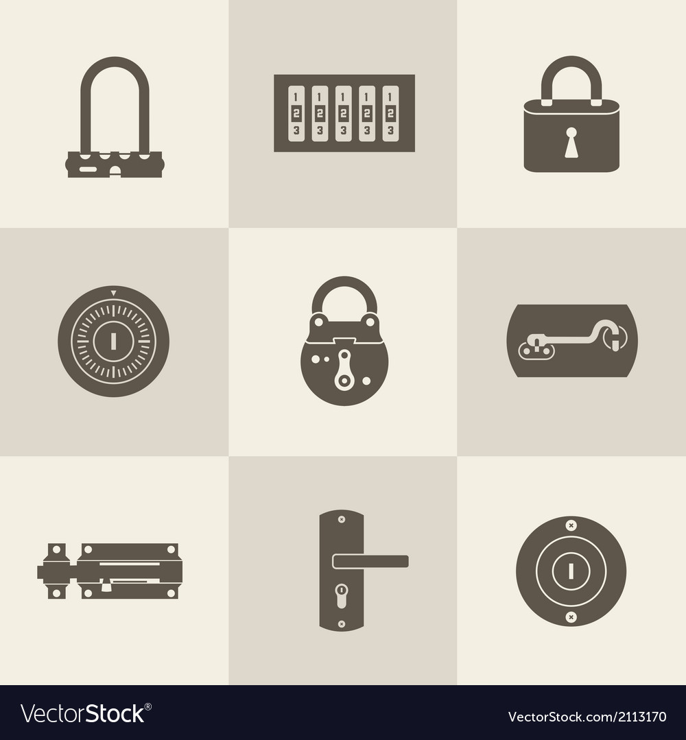 Locks icons vector | Price: 1 Credit (USD $1)