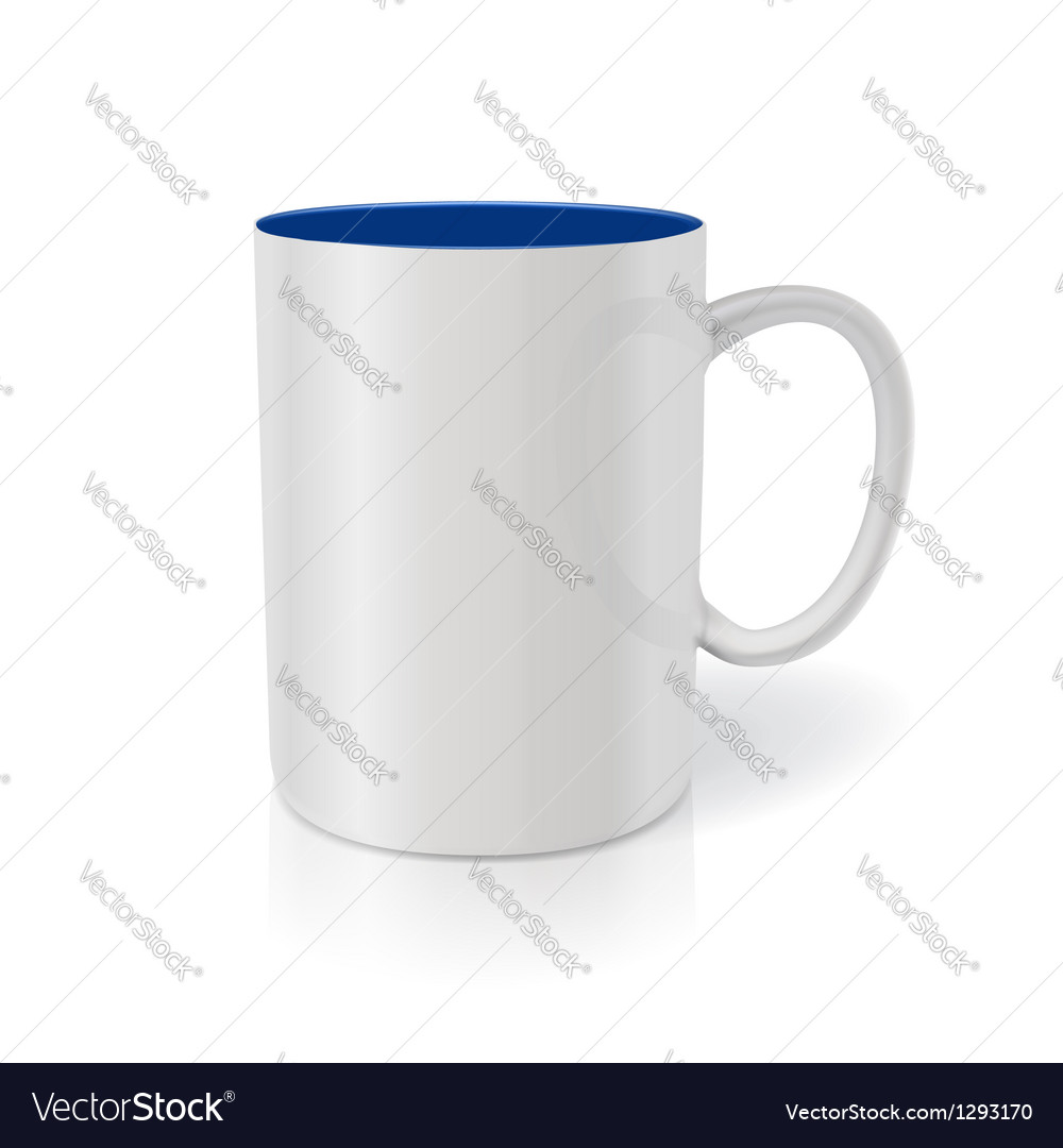 Photorealistic white cup ready for your design vector | Price: 1 Credit (USD $1)