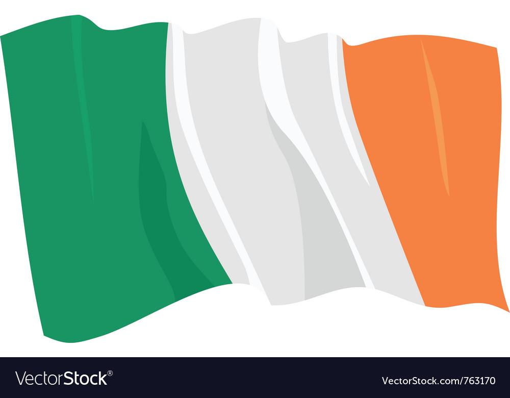 Political waving flag of ireland republic vector | Price: 1 Credit (USD $1)