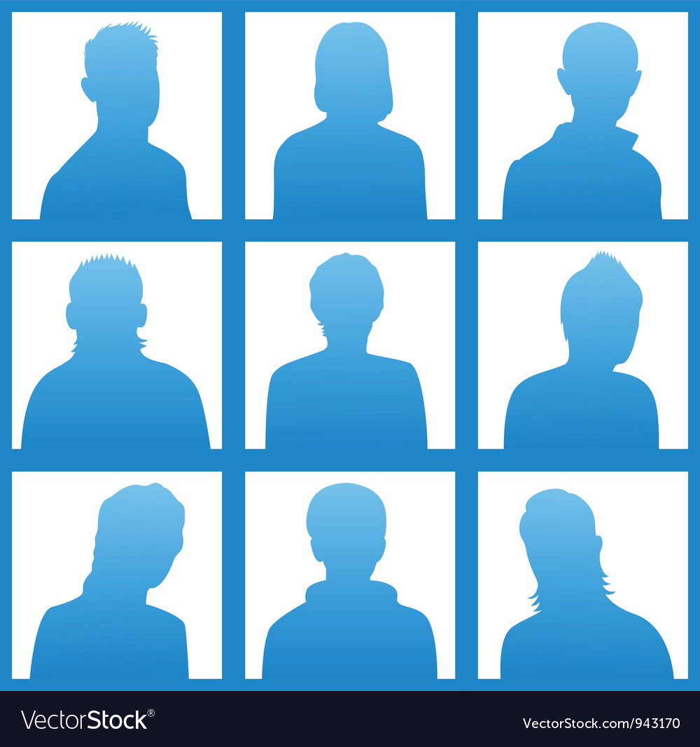 Silhouettes avatar vector | Price: 1 Credit (USD $1)