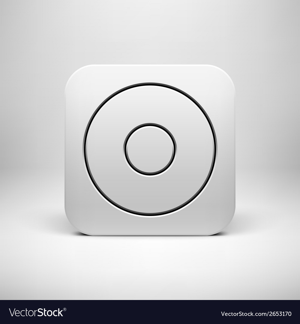 White abstract app icon button template vector | Price: 1 Credit (USD $1)
