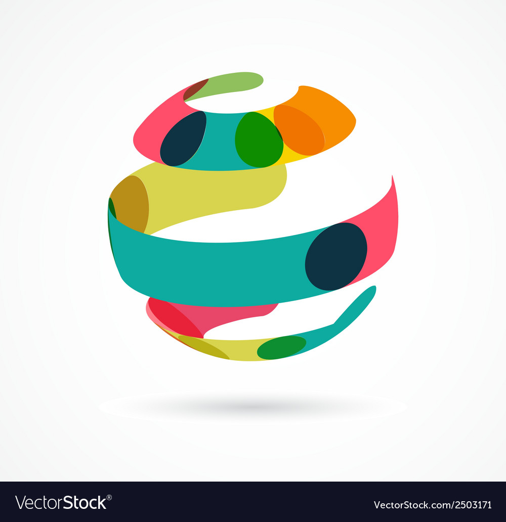 Abstract colorful globe business icon vector | Price: 1 Credit (USD $1)