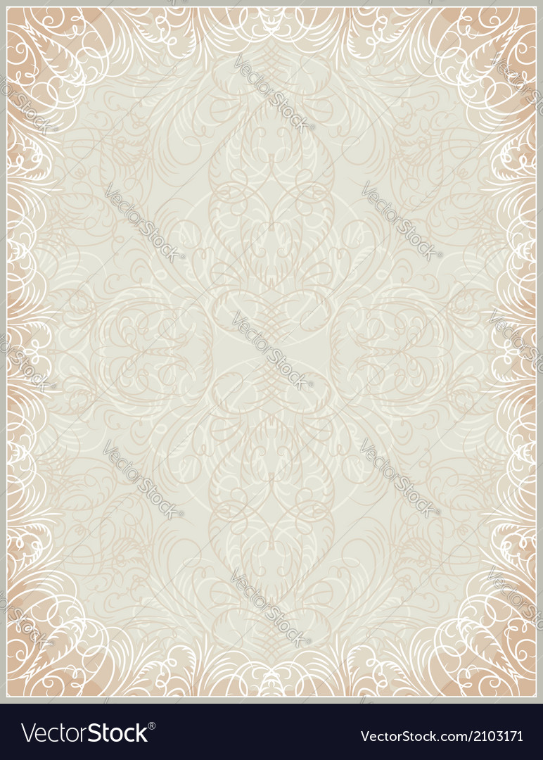 Beige certificate background with calligraphic lin vector | Price: 1 Credit (USD $1)