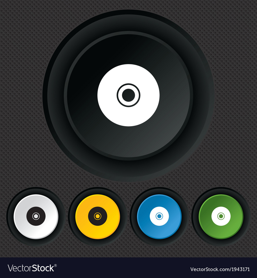Cd or dvd sign icon compact disc symbol vector | Price: 1 Credit (USD $1)