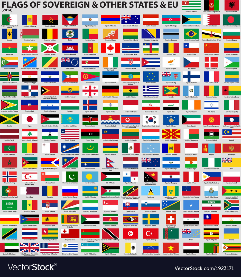 Flags of the world 2014 ai10 vector | Price: 1 Credit (USD $1)