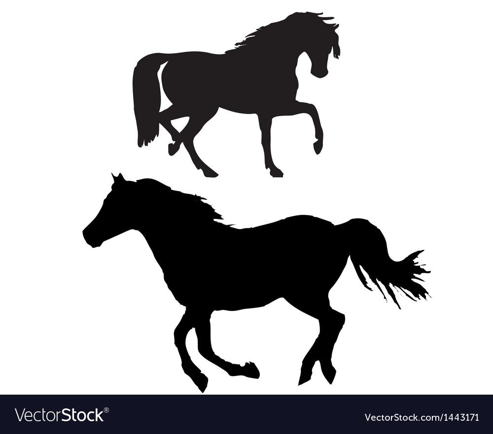Horse sillhouette vector   Price: 1 Credit (USD $1)