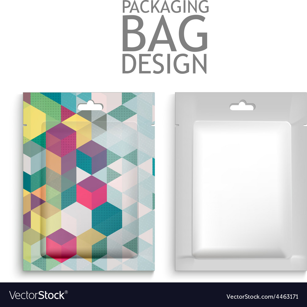 Mockup blank foil packaging vector | Price: 1 Credit (USD $1)