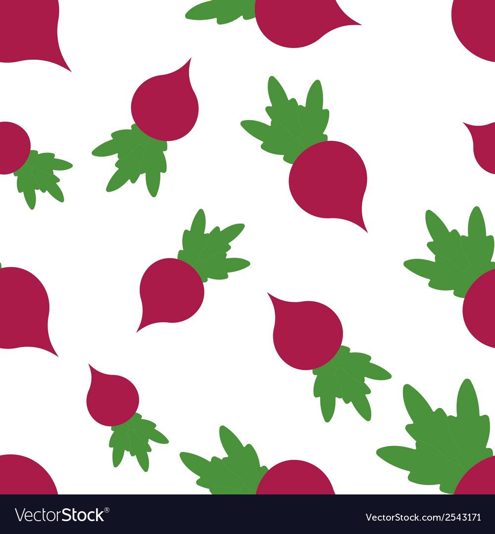 Pattern silhouette radish vector | Price: 1 Credit (USD $1)