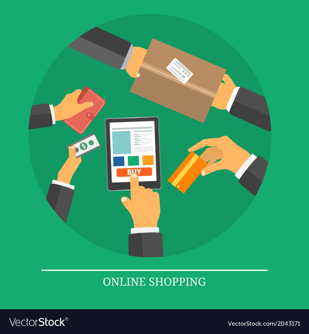 Retail commerce and marketing elements vector | Price: 1 Credit (USD $1)