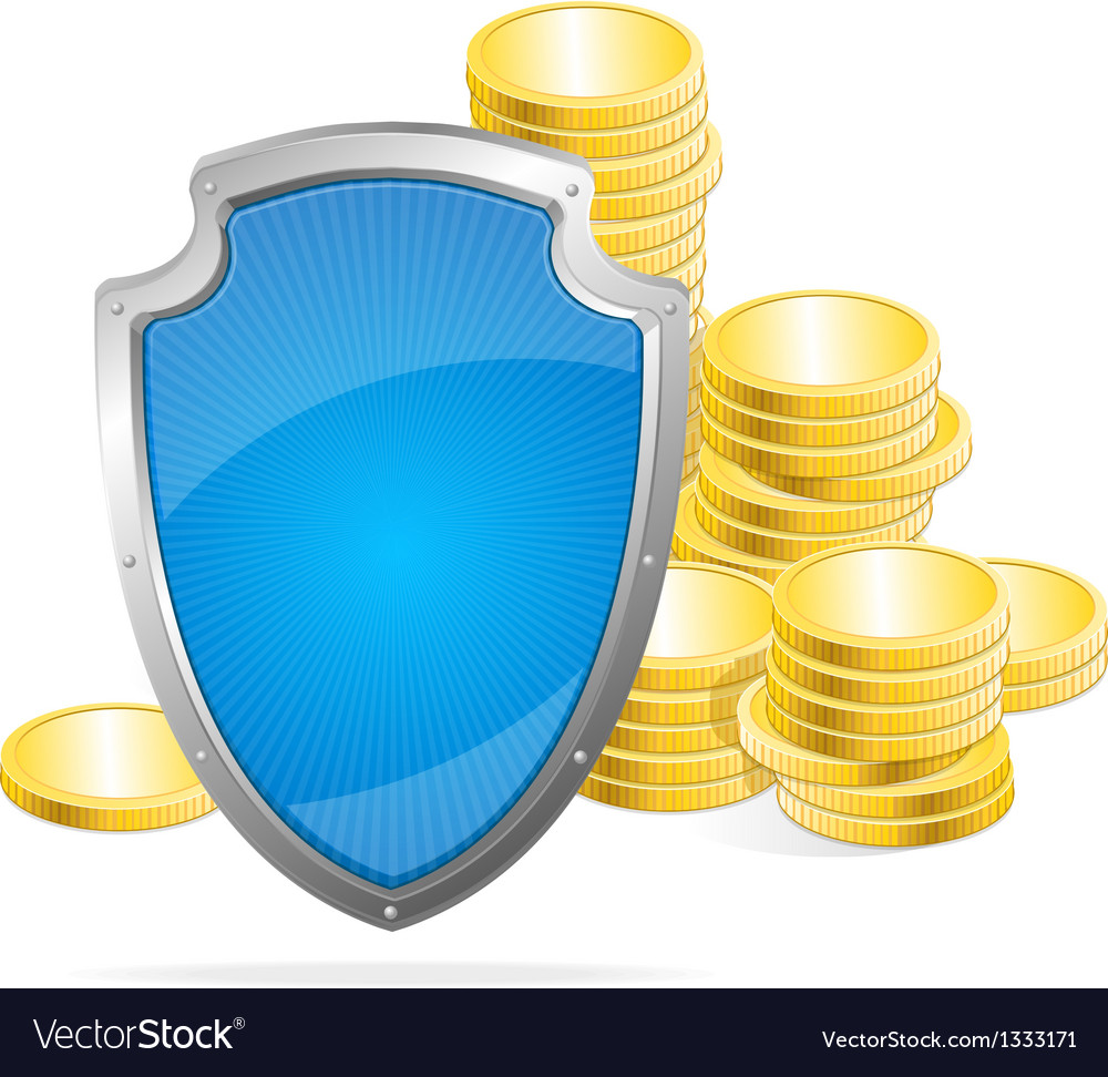 Shield protection of money concept vector | Price: 1 Credit (USD $1)