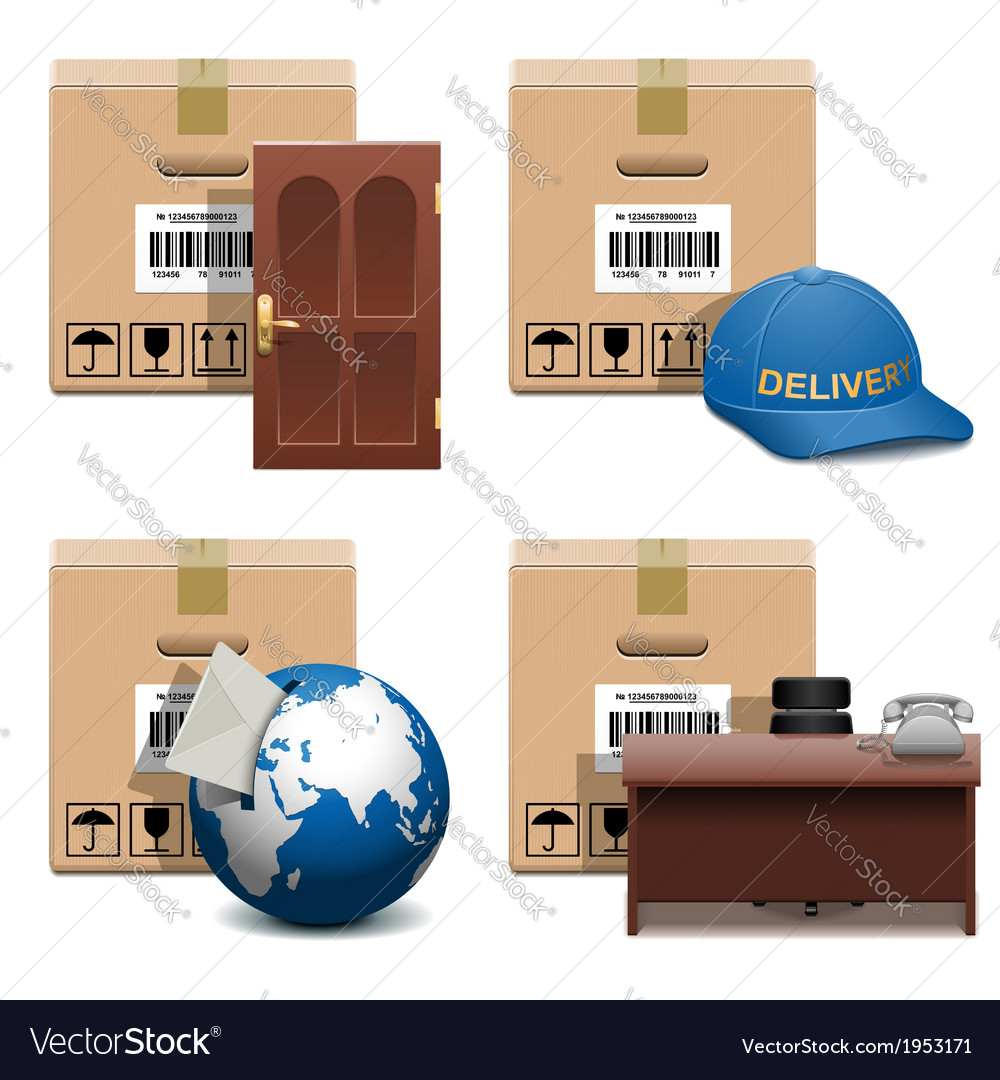 Shipment icons set 28 vector | Price: 1 Credit (USD $1)