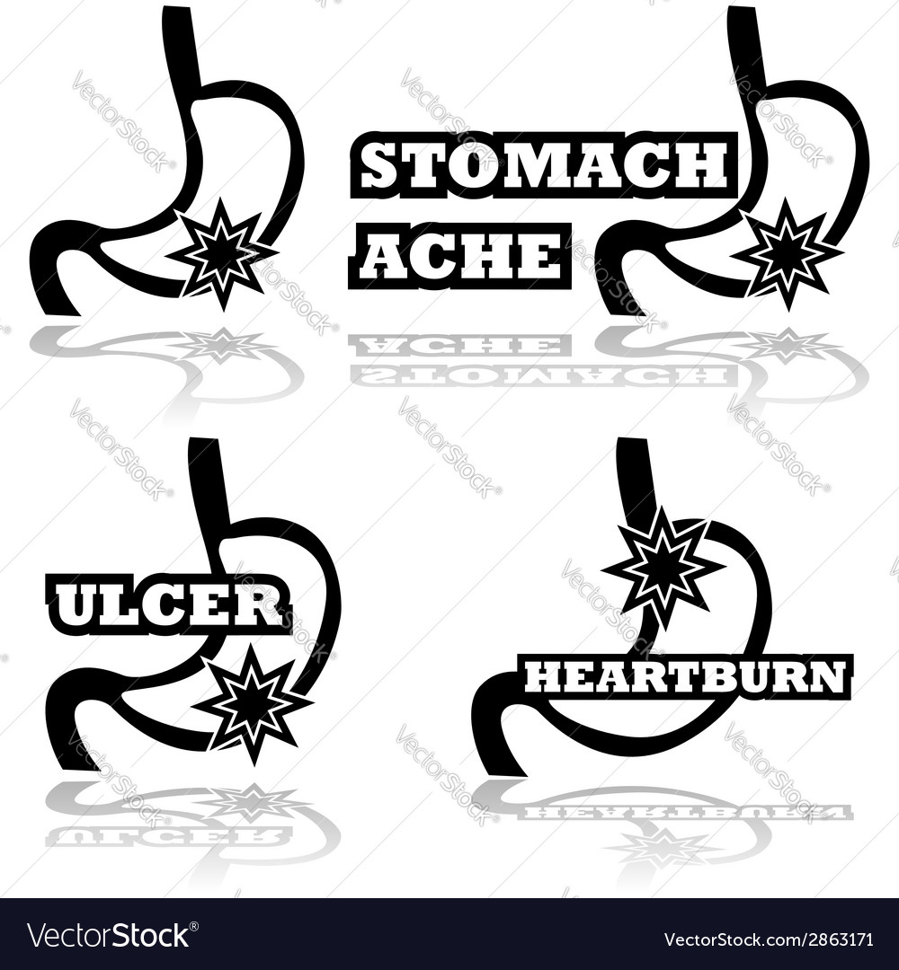 Stomach problems vector | Price: 1 Credit (USD $1)