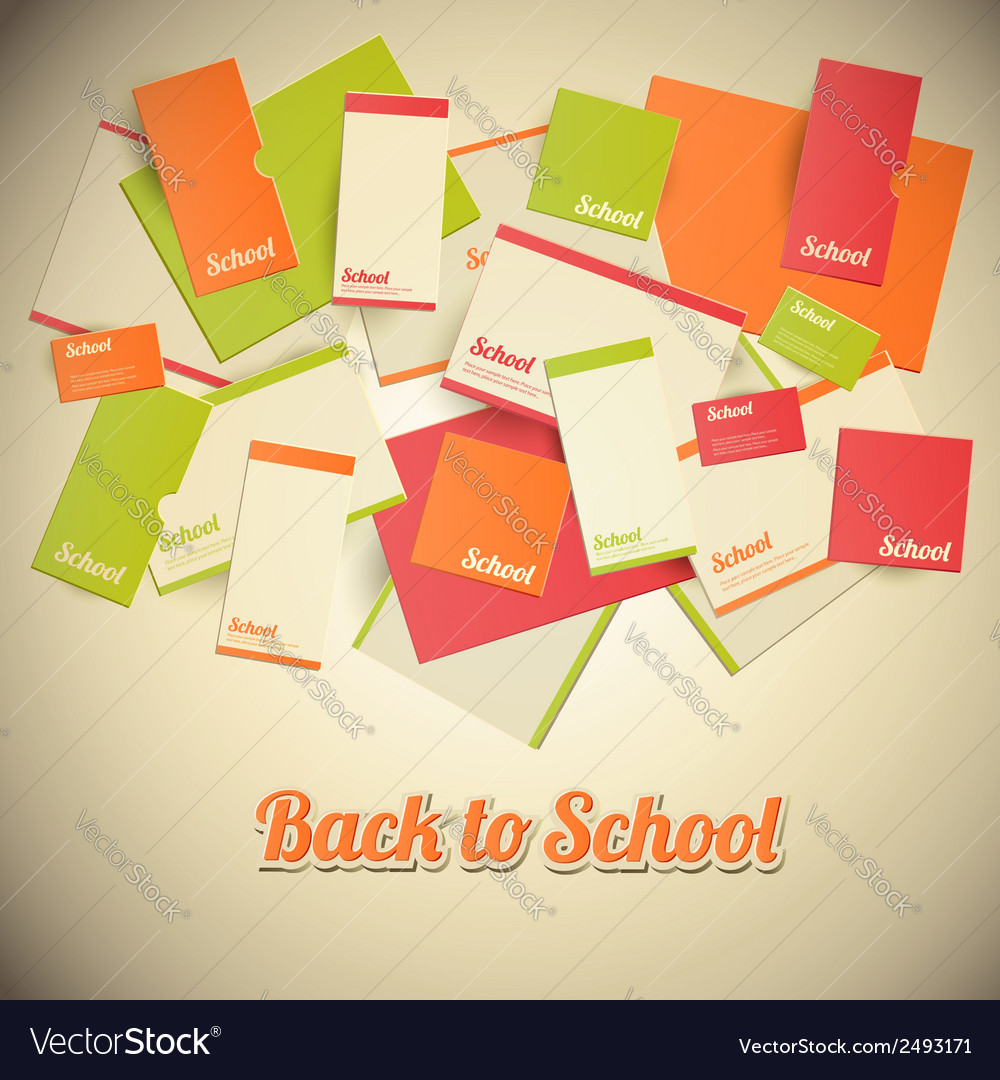 Vintage back to school design vector | Price: 1 Credit (USD $1)