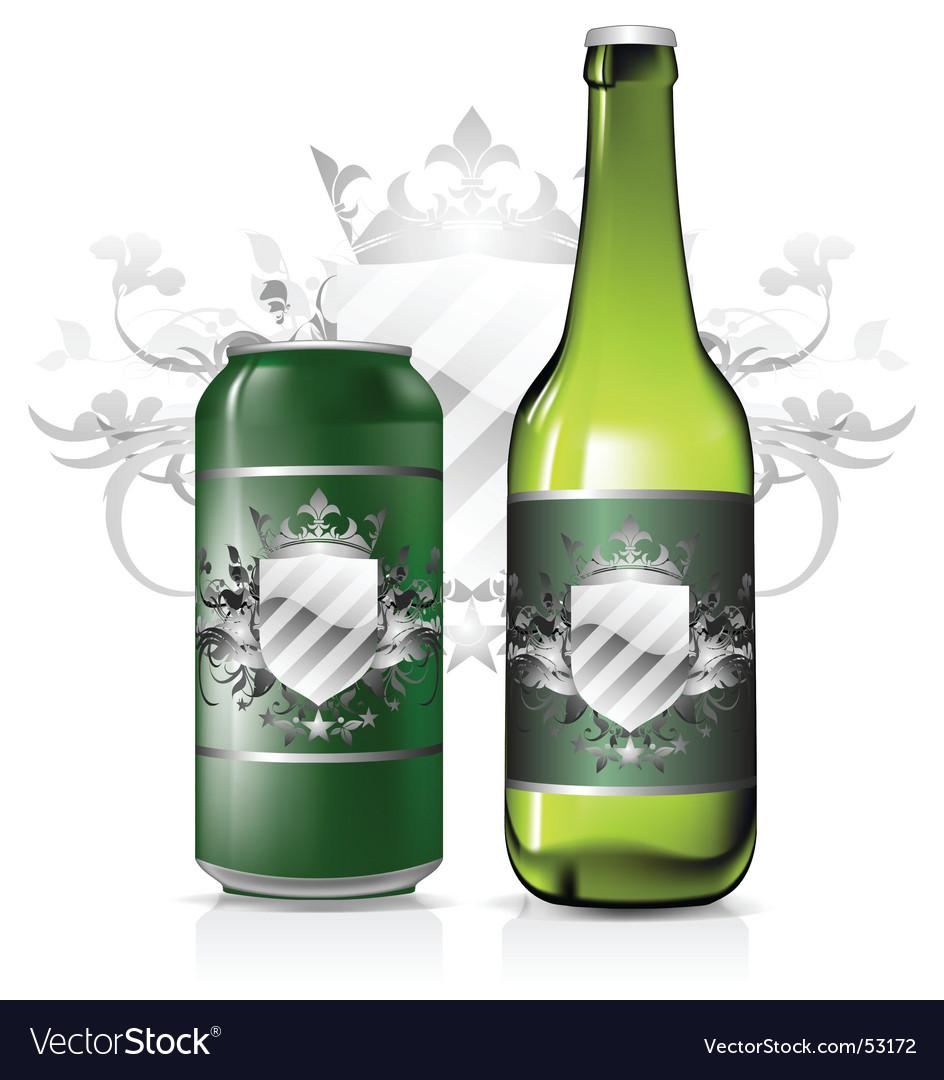 Beverage label vector