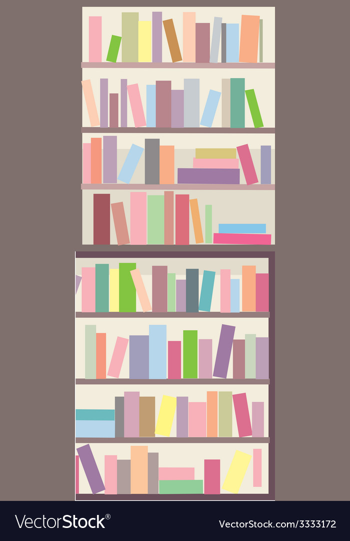 Book shelves seamless banner vector