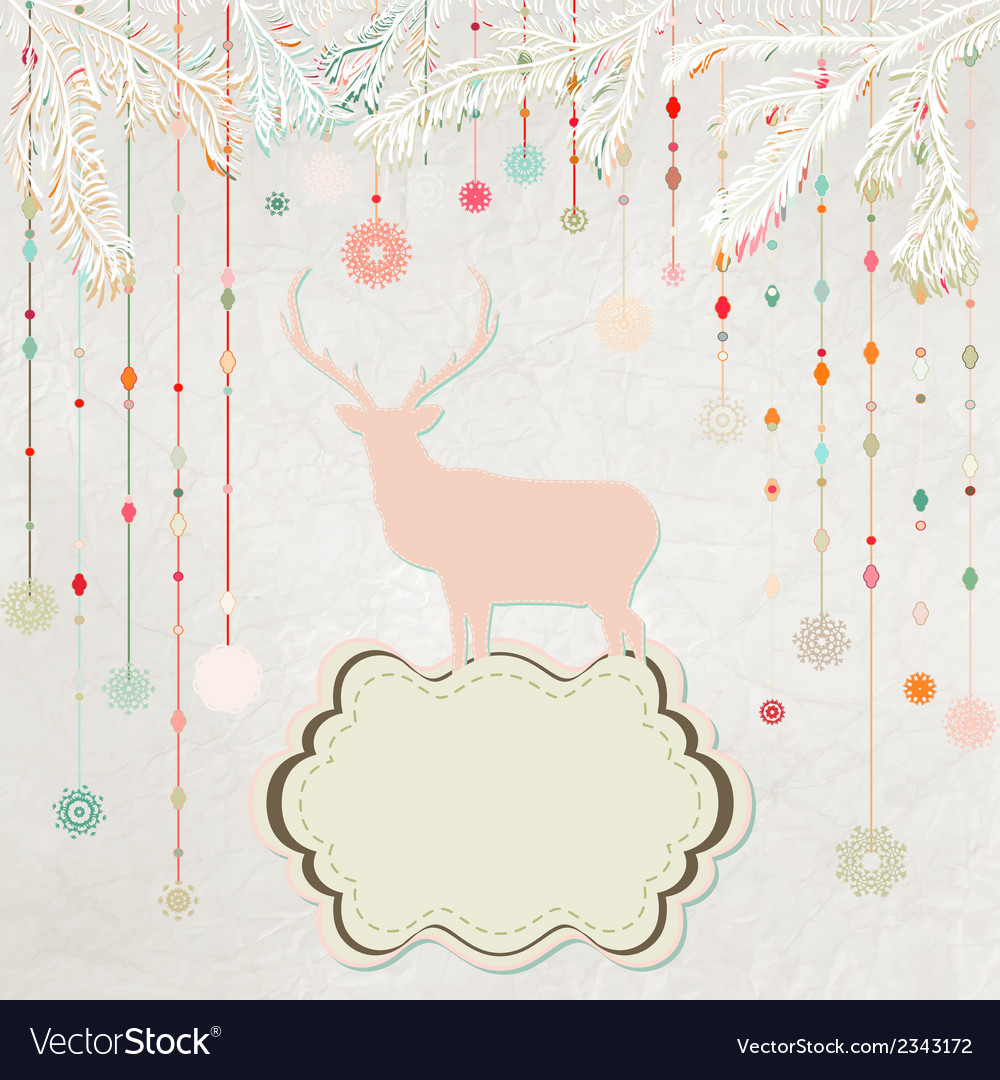 Christmas invitation card template eps 8 vector | Price: 1 Credit (USD $1)