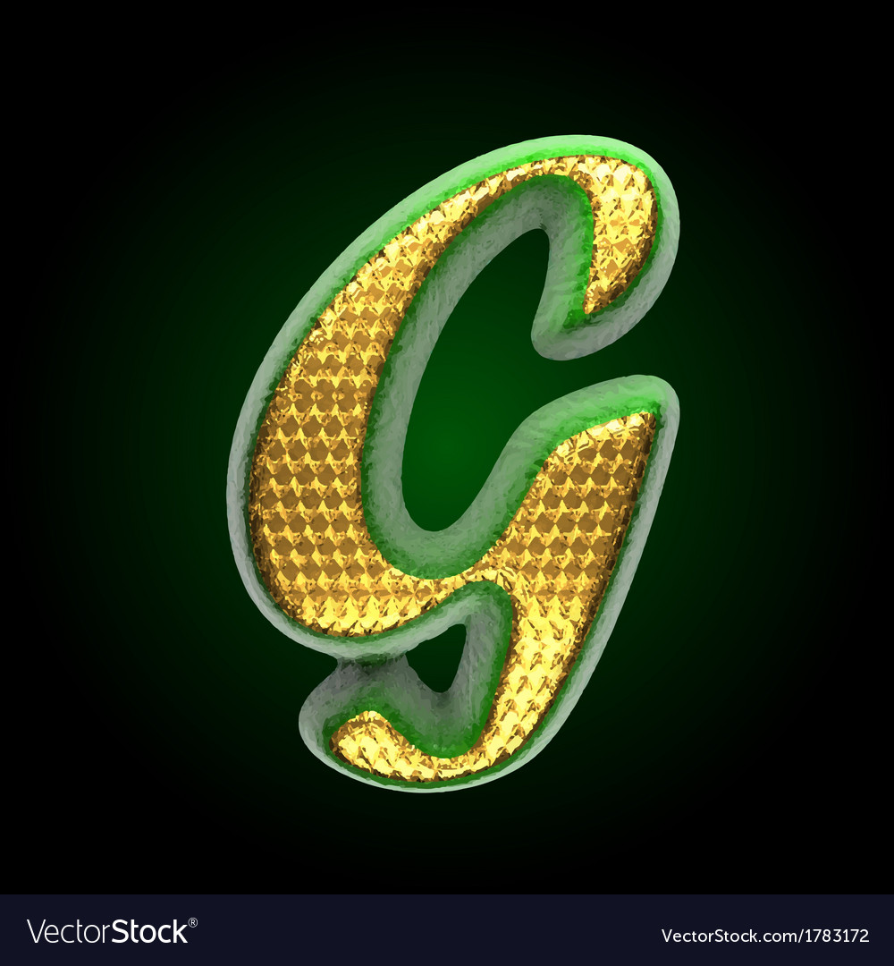 Golden and green letter g vector | Price: 1 Credit (USD $1)