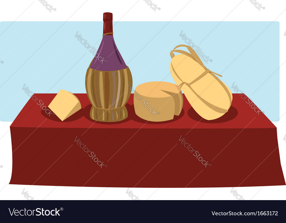 Italian food and wine vector | Price: 1 Credit (USD $1)