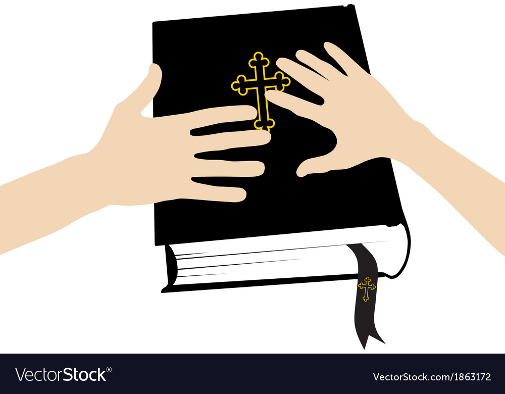 Marital oath on the holy bible vector | Price: 1 Credit (USD $1)