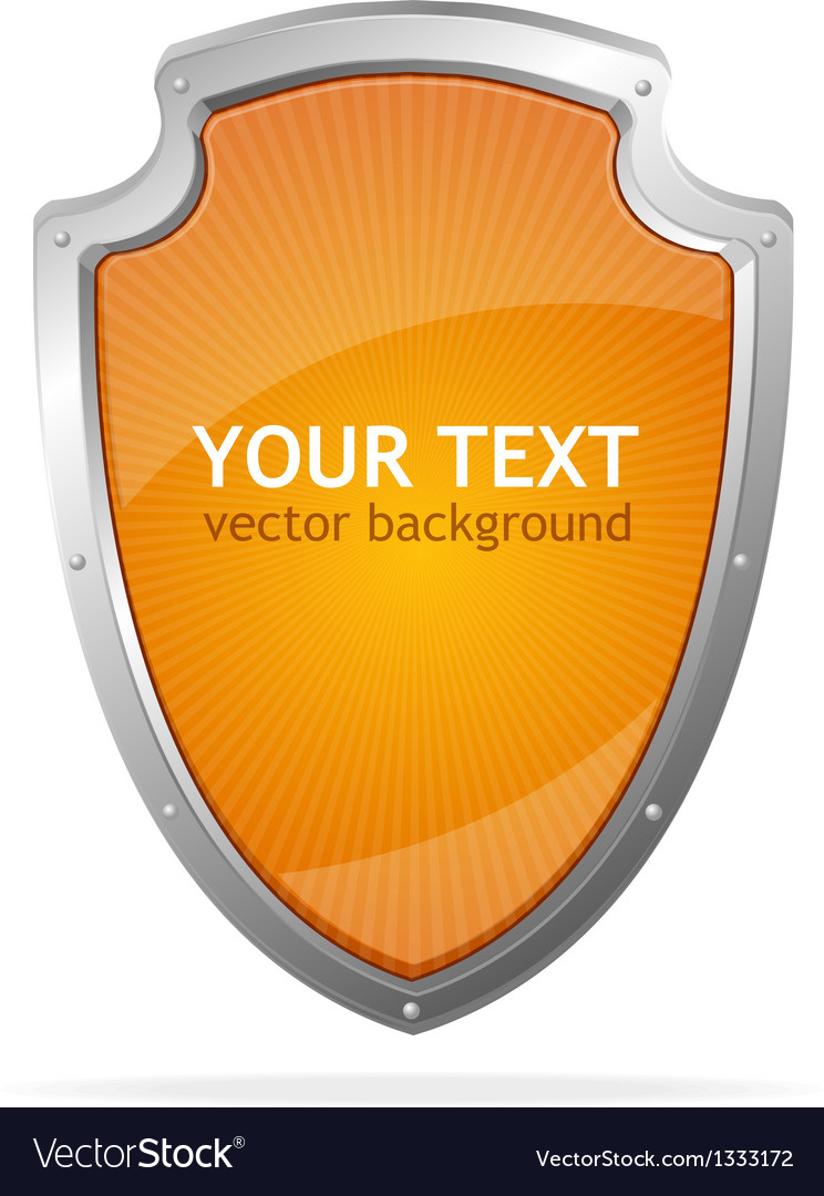 Metal shield lke speech templates for text vector | Price: 1 Credit (USD $1)