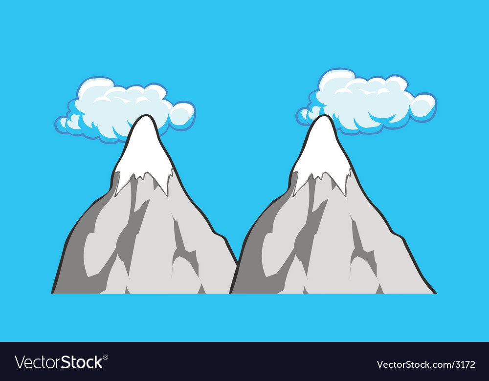 Mountains scene vector | Price: 1 Credit (USD $1)