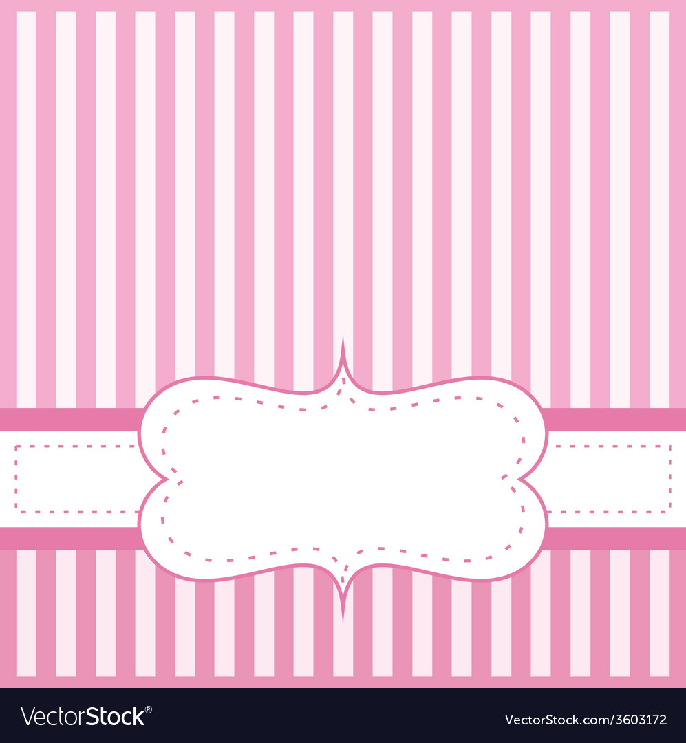 Pink card invitation with white stripes vector   Price: 1 Credit (USD $1)