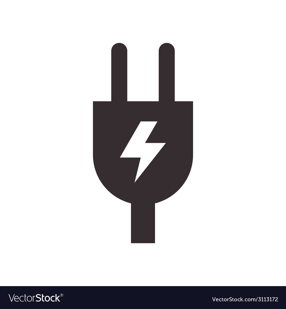 Plug and high voltage sign vector | Price: 1 Credit (USD $1)