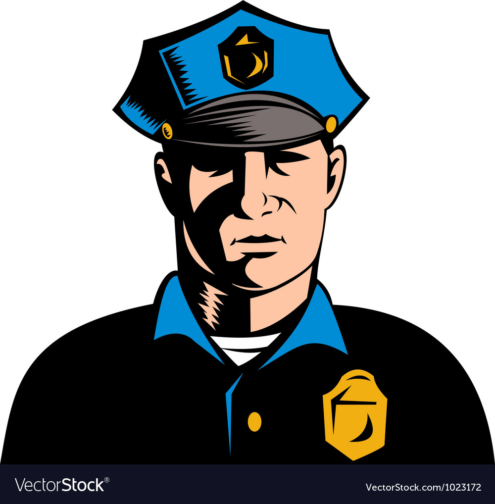 Policeman police officer vector | Price: 1 Credit (USD $1)