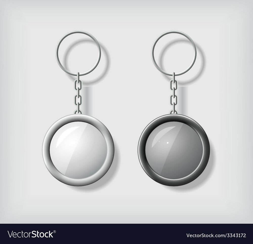 Two key chain pendants mockup vector | Price: 1 Credit (USD $1)