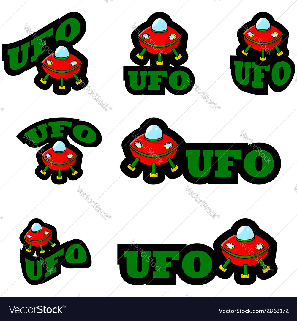 Ufo icons vector | Price: 1 Credit (USD $1)