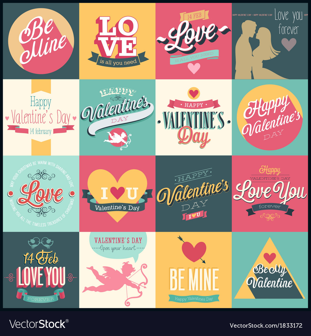 Valentine set3 vector | Price: 1 Credit (USD $1)