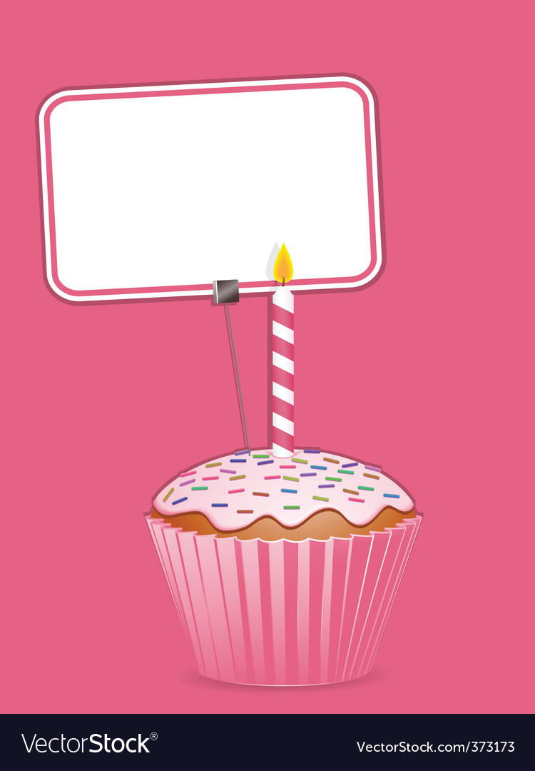 Cupcake and label vector | Price: 1 Credit (USD $1)