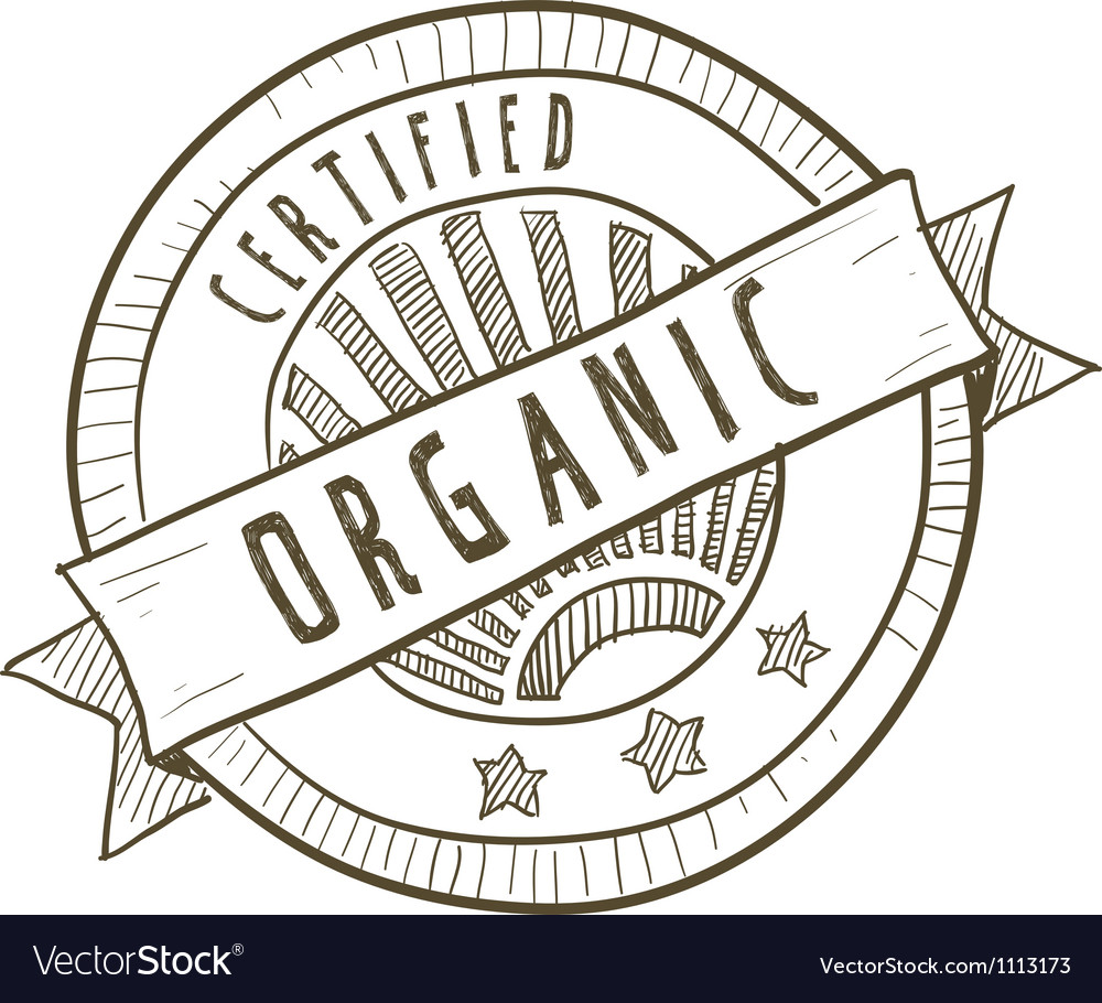 Doodle package label organic vector | Price: 1 Credit (USD $1)