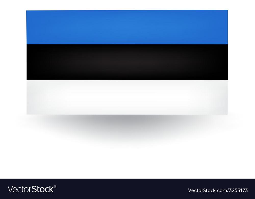 Estonian flag vector | Price: 1 Credit (USD $1)