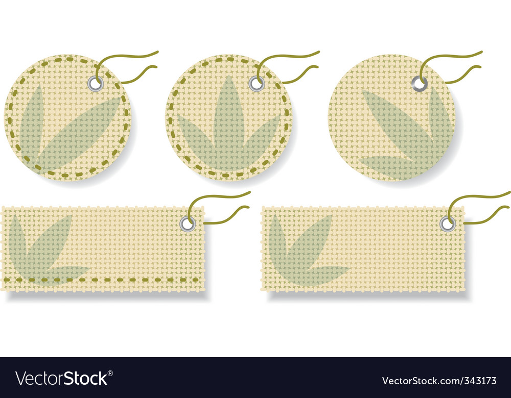 Fabric labels vector | Price: 1 Credit (USD $1)