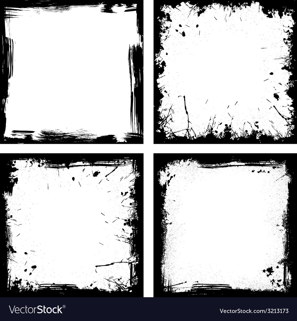 Four black frames vector | Price: 1 Credit (USD $1)