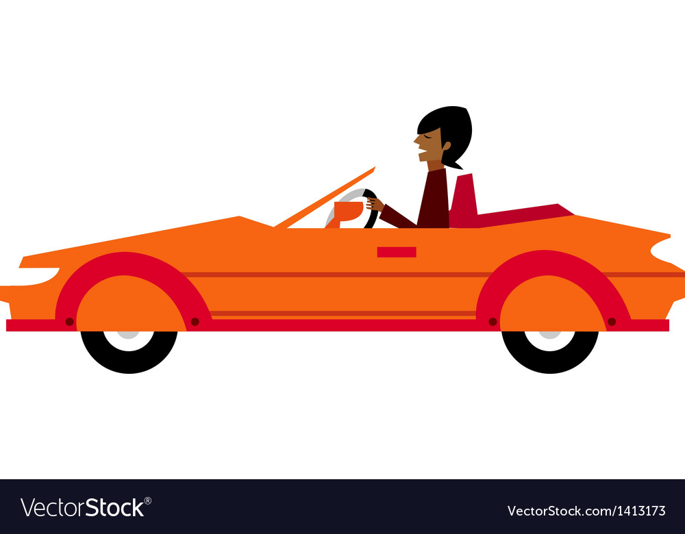 Side view of man sitting in car vector | Price: 3 Credit (USD $3)
