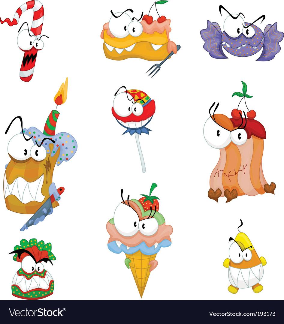 Sweet cakes ice cream vector   Price: 1 Credit (USD $1)