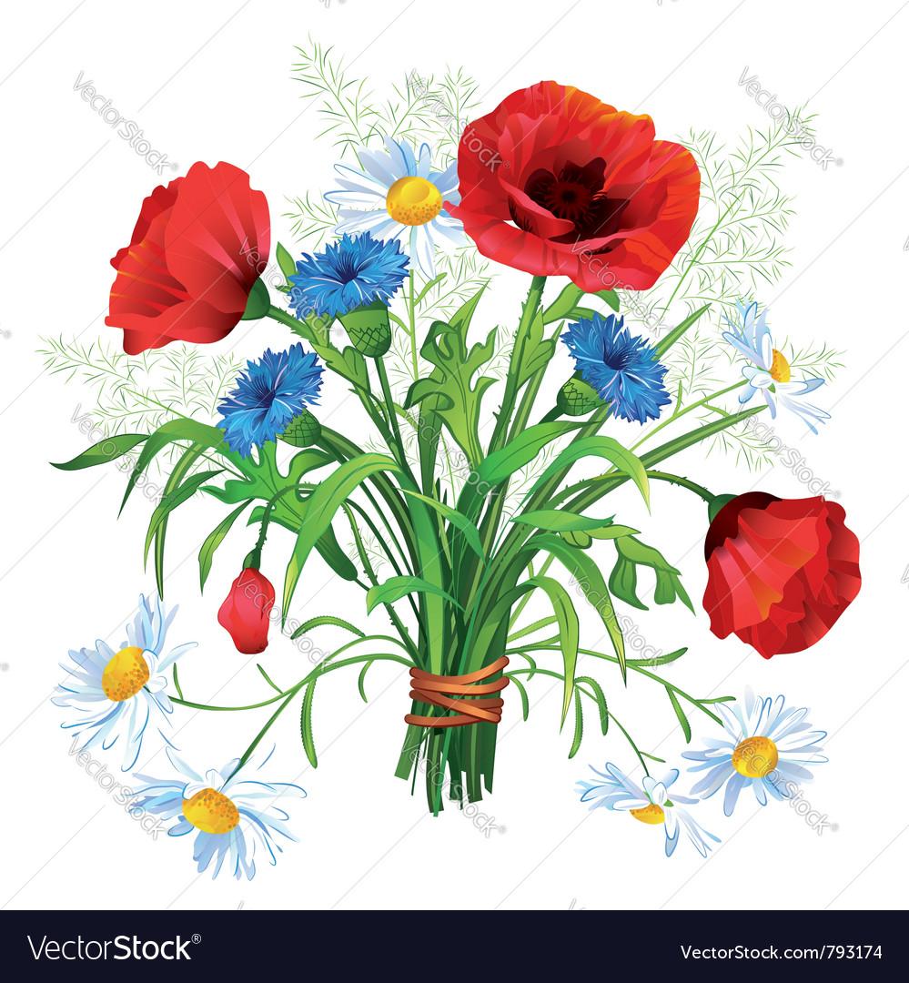 Flower bouquet vector | Price: 3 Credit (USD $3)