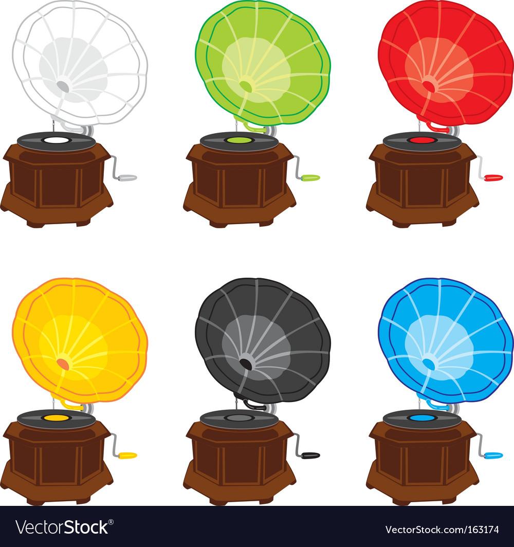 Gramophones vector | Price: 1 Credit (USD $1)