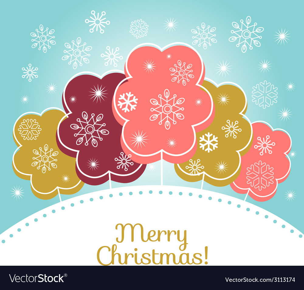 Merry christmas card vector | Price:  Credit (USD $)