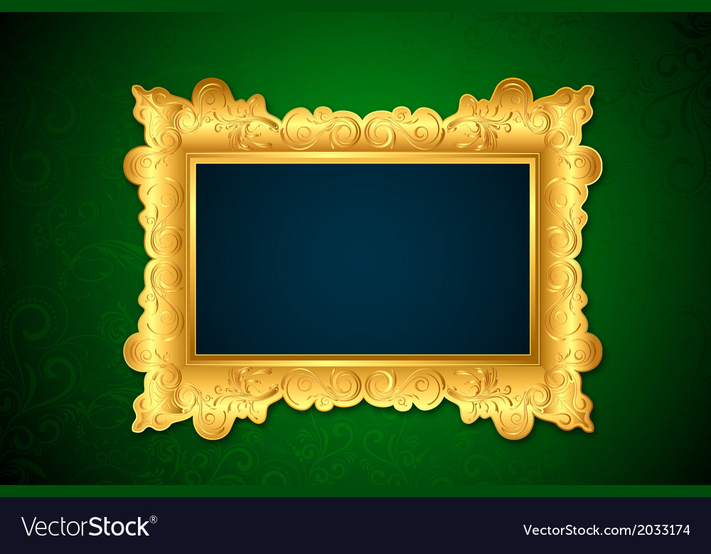 Photo frame on wall vector | Price: 1 Credit (USD $1)