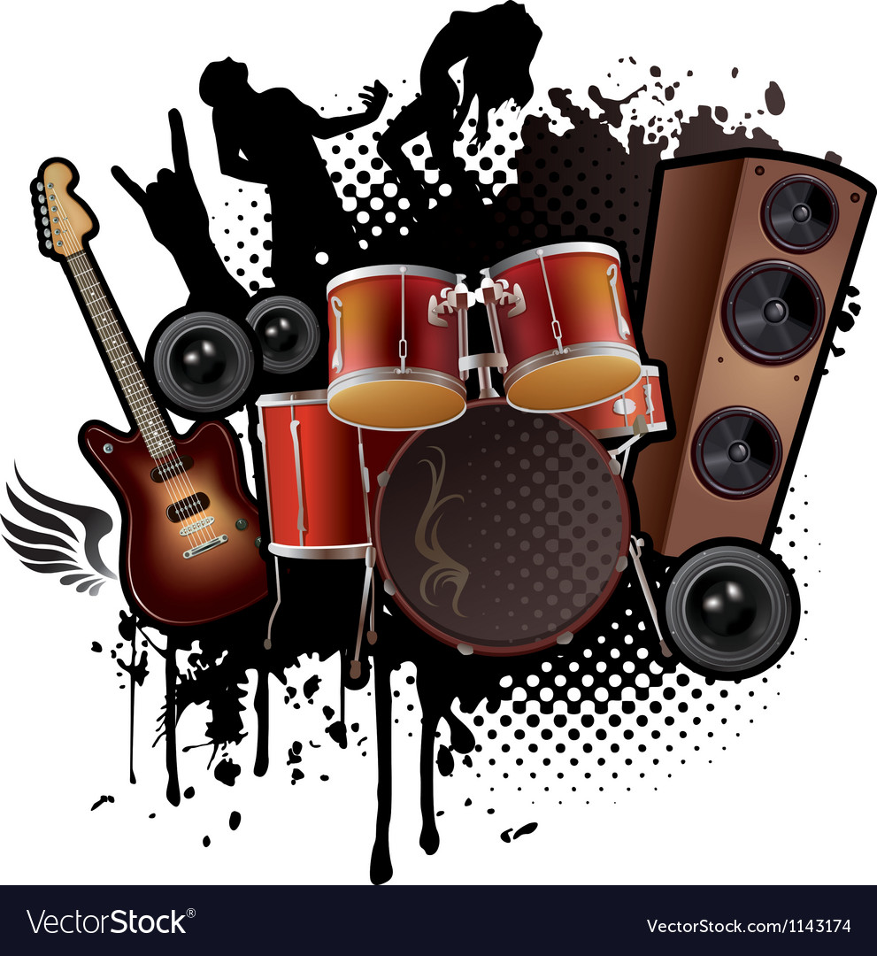 Rock music abstract vector | Price: 1 Credit (USD $1)
