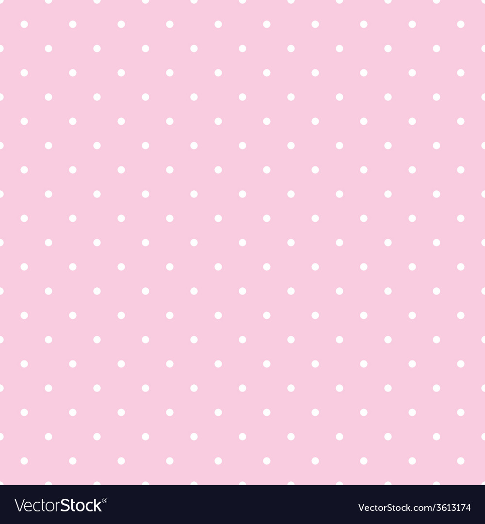Tile pattern white polka dots on pink background vector | Price: 1 Credit (USD $1)