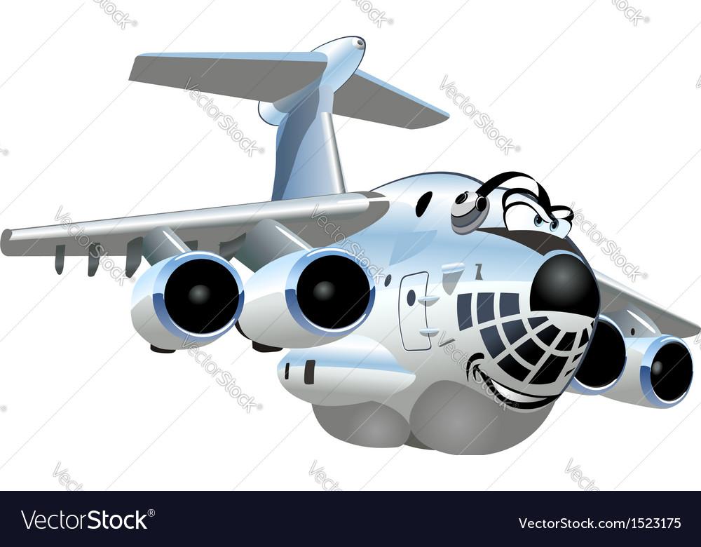 Cartoon cargo airplane vector | Price: 1 Credit (USD $1)