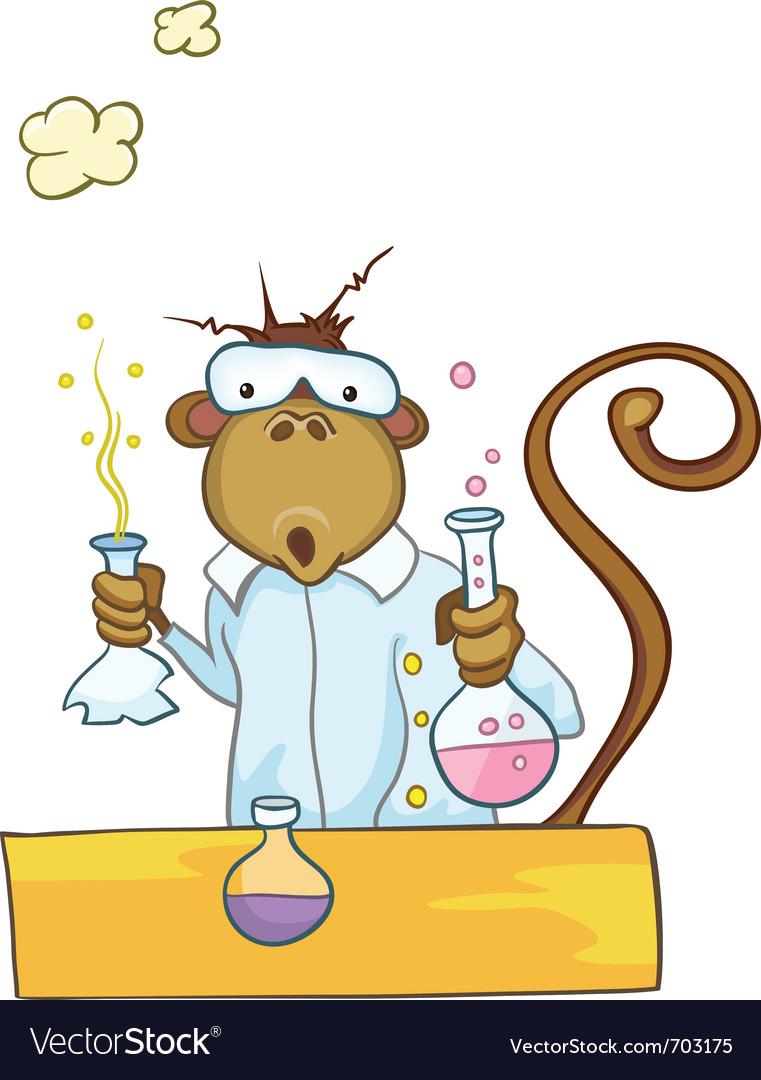 Cartoon character monkey vector | Price: 1 Credit (USD $1)