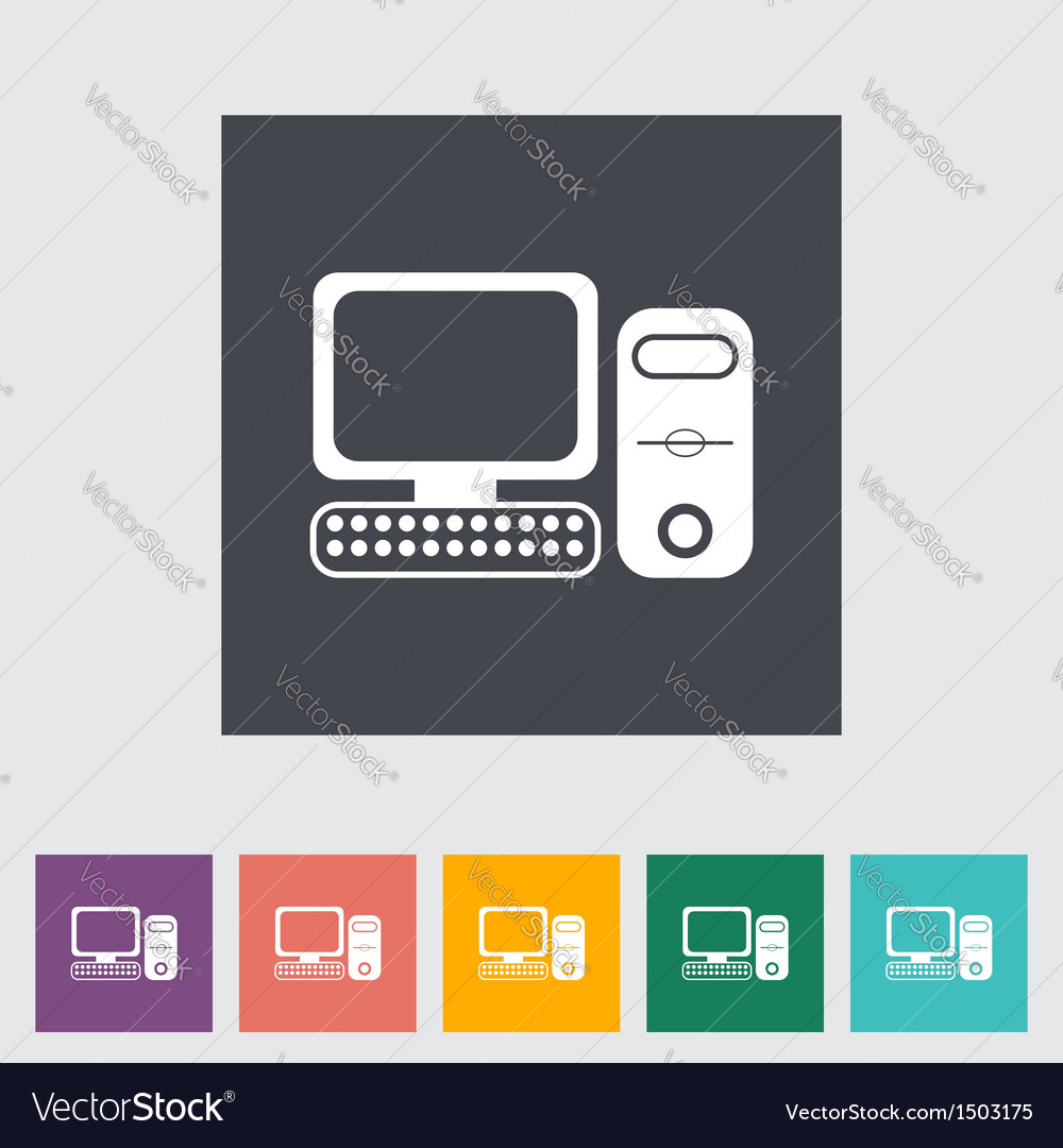 Computer icon 2 vector | Price: 1 Credit (USD $1)